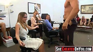 38 Fucken nuts Cheating whores suck of stripper at cfnm party34