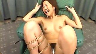 Japanese Bondage Slut Gets a Cum Bath