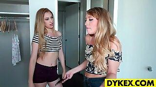 Lesbian girl seducing her maid