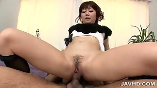 Yurika Miyachi gets ravaged by two huge cocks