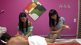 Asian massage girls caught fucking