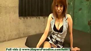 Rui Shiina innocent asian girl gets nipples licked and