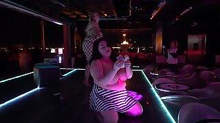 plus-size pornstars unwrap at Hustler Club Las Vegas