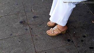 OPOE NYLON VOETEN IN CORK-schoenen