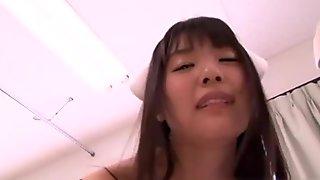 Tsubomi Asian porn star in nurse costume gets hardcore fuck