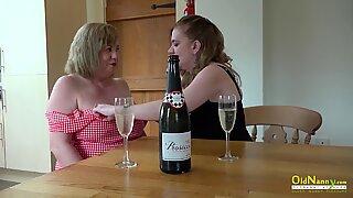 OldNannY Two British Mature Lesbians Masturbate