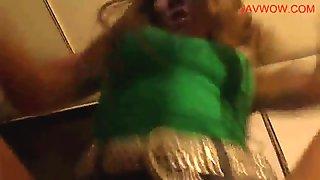 Japansese Amateur - Dancing Green Top Denim Skit