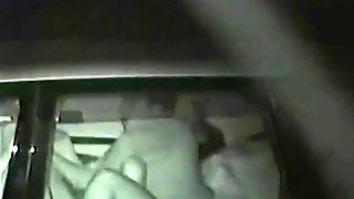 Dark car backseat fucking