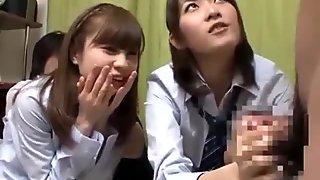 Schoolgirl sucking schoolguy cock licking his asshole
