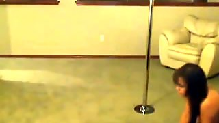 Busty Asian Pole Dancing HD