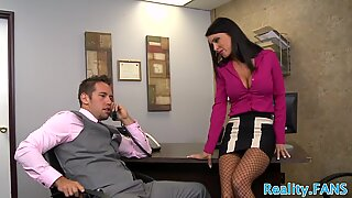 Real secretary fucked in the office