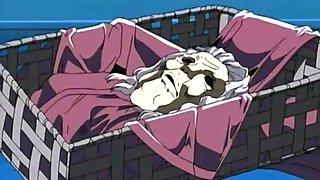 Anime slut never gets tired of her ass pounding