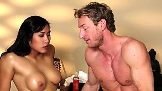 Asian slut nuru massaged