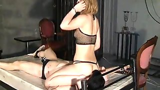 Two Japanese girls whipping and facesitting