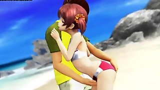 Teen animated girl gets fingered and screwed