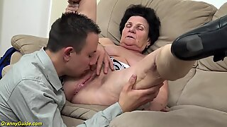 72 years old wooly granny raunchy poked