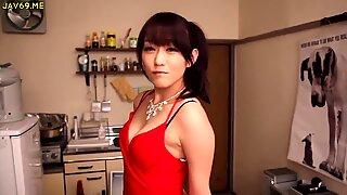 Shou Nishino zeep prachtige vrouw panty kont zweep ru nume