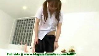 Yuri Haruna innocent cute asian maid who likes getting her