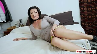 Licking my frustrated busty MILF stepmothers hot pussy